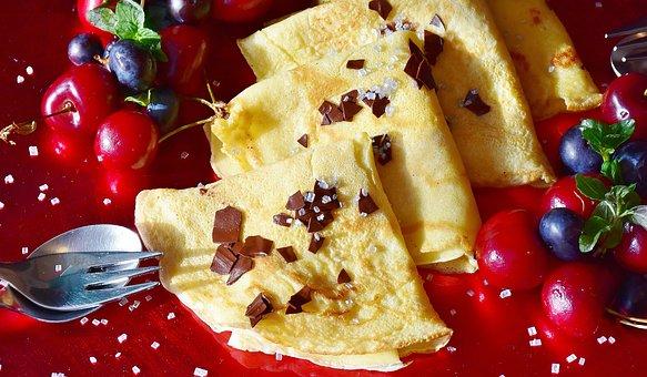 Pancakes ready to eat